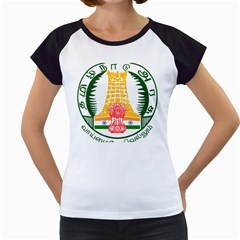 Seal of Indian State of Tamil Nadu  Women s Cap Sleeve T