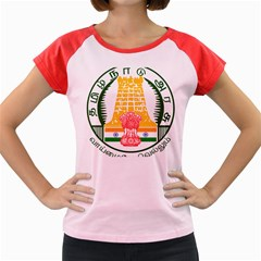 Seal of Indian State of Tamil Nadu  Women s Cap Sleeve T-Shirt
