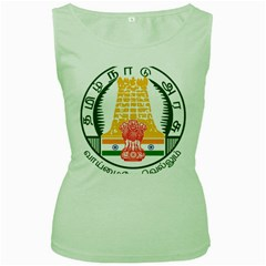 Seal of Indian State of Tamil Nadu  Women s Green Tank Top