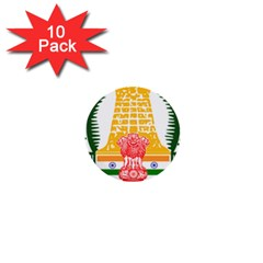 Seal of Indian State of Tamil Nadu  1  Mini Buttons (10 pack)