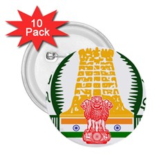 Seal of Indian State of Tamil Nadu  2.25  Buttons (10 pack)
