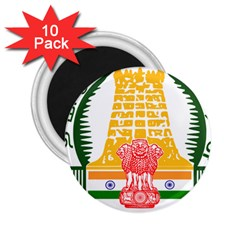 Seal of Indian State of Tamil Nadu  2.25  Magnets (10 pack)