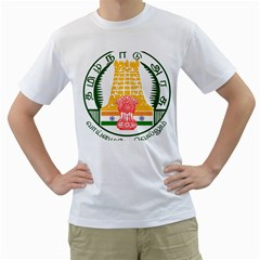 Seal of Indian State of Tamil Nadu  Men s T-Shirt (White) (Two Sided)