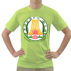Seal of Indian State of Tamil Nadu  Green T-Shirt