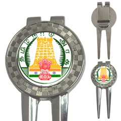 Seal of Indian State of Tamil Nadu  3-in-1 Golf Divots