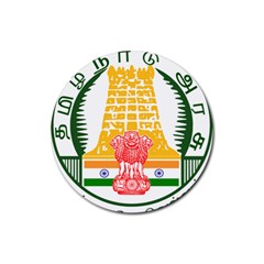 Seal of Indian State of Tamil Nadu  Rubber Coaster (Round)