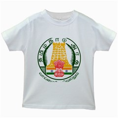 Seal of Indian State of Tamil Nadu  Kids White T-Shirts