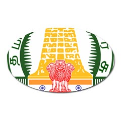 Seal of Indian State of Tamil Nadu  Oval Magnet