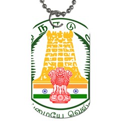 Seal of Indian State of Tamil Nadu  Dog Tag (One Side)