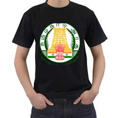 Seal of Indian State of Tamil Nadu  Men s T-Shirt (Black) (Two Sided)