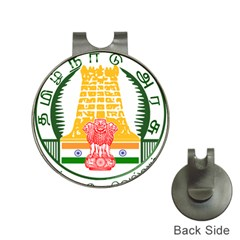 Seal of Indian State of Tamil Nadu  Hat Clips with Golf Markers