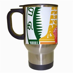 Seal of Indian State of Tamil Nadu  Travel Mugs (White)