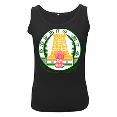 Seal of Indian State of Tamil Nadu  Women s Black Tank Top