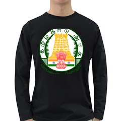 Seal of Indian State of Tamil Nadu  Long Sleeve Dark T-Shirts