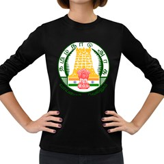 Seal of Indian State of Tamil Nadu  Women s Long Sleeve Dark T-Shirts
