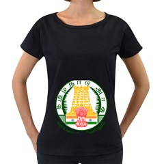 Seal of Indian State of Tamil Nadu  Women s Loose-Fit T-Shirt (Black)