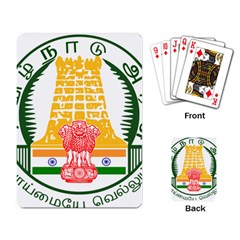 Seal of Indian State of Tamil Nadu  Playing Card