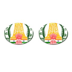 Seal of Indian State of Tamil Nadu  Cufflinks (Oval)