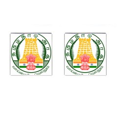 Seal of Indian State of Tamil Nadu  Cufflinks (Square)