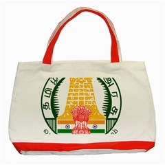 Seal of Indian State of Tamil Nadu  Classic Tote Bag (Red)