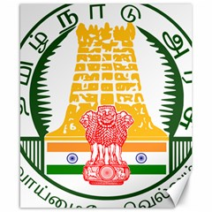 Seal of Indian State of Tamil Nadu  Canvas 8  x 10