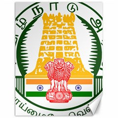 Seal of Indian State of Tamil Nadu  Canvas 12  x 16