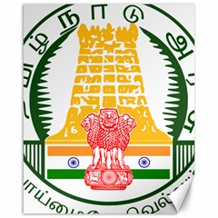 Seal of Indian State of Tamil Nadu  Canvas 16  x 20
