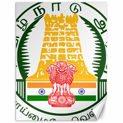 Seal of Indian State of Tamil Nadu  Canvas 18  x 24
