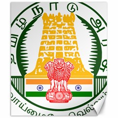 Seal of Indian State of Tamil Nadu  Canvas 20  x 24