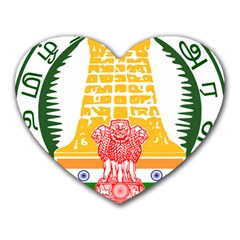 Seal of Indian State of Tamil Nadu  Heart Mousepads