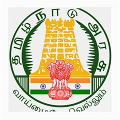 Seal of Indian State of Tamil Nadu  Medium Glasses Cloth (2-Side)
