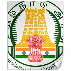 Seal of Indian State of Tamil Nadu  Canvas 11  x 14