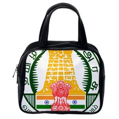 Seal of Indian State of Tamil Nadu  Classic Handbags (One Side)