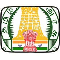 Seal of Indian State of Tamil Nadu  Double Sided Fleece Blanket (Mini)