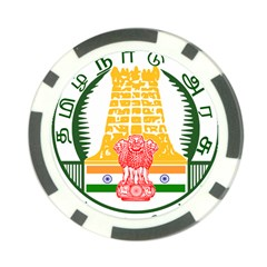 Seal of Indian State of Tamil Nadu  Poker Chip Card Guard (10 pack)