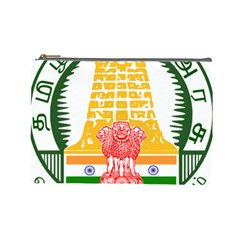 Seal of Indian State of Tamil Nadu  Cosmetic Bag (Large)