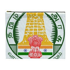 Seal of Indian State of Tamil Nadu  Cosmetic Bag (XL)