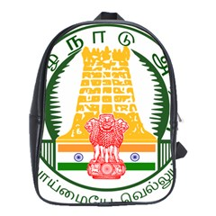 Seal of Indian State of Tamil Nadu  School Bags(Large)