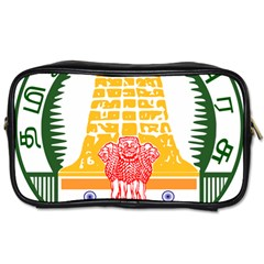 Seal of Indian State of Tamil Nadu  Toiletries Bags 2-Side