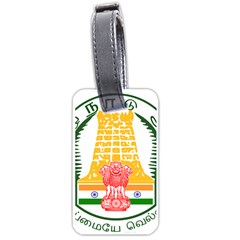 Seal of Indian State of Tamil Nadu  Luggage Tags (One Side)