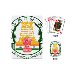 Seal of Indian State of Tamil Nadu  Playing Cards (Mini)
