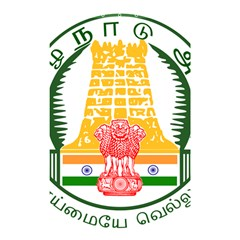 Seal of Indian State of Tamil Nadu  Shower Curtain 48  x 72  (Small)