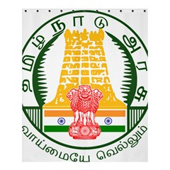 Seal of Indian State of Tamil Nadu  Shower Curtain 60  x 72  (Medium)