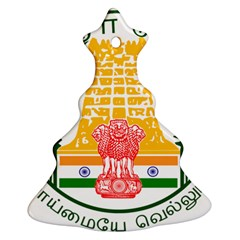 Seal of Indian State of Tamil Nadu  Christmas Tree Ornament (Two Sides)