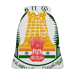 Seal of Indian State of Tamil Nadu  Bell Ornament (Two Sides)