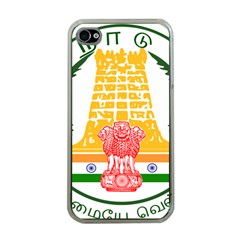 Seal of Indian State of Tamil Nadu  Apple iPhone 4 Case (Clear)