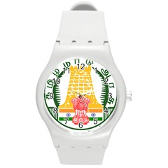 Seal of Indian State of Tamil Nadu  Round Plastic Sport Watch (M)