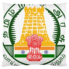Seal of Indian State of Tamil Nadu  Large Cushion Case (One Side)