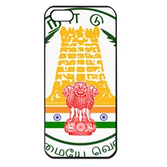 Seal of Indian State of Tamil Nadu  Apple iPhone 5 Seamless Case (Black)