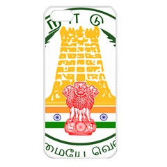 Seal of Indian State of Tamil Nadu  Apple iPhone 5 Seamless Case (White)